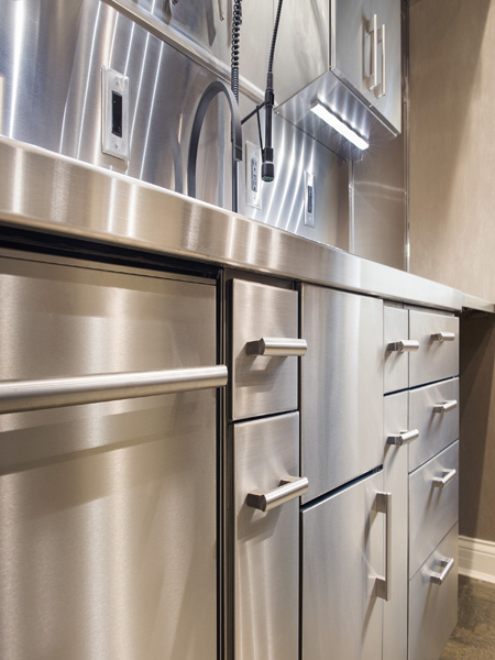 Commercial residential stainless steel cabinets new for Residential cabinets