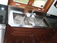 Custom Stainless Steel Three Compartment Sink