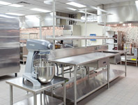 Stainless Steel Work Table with Overshelf and Pot Rack