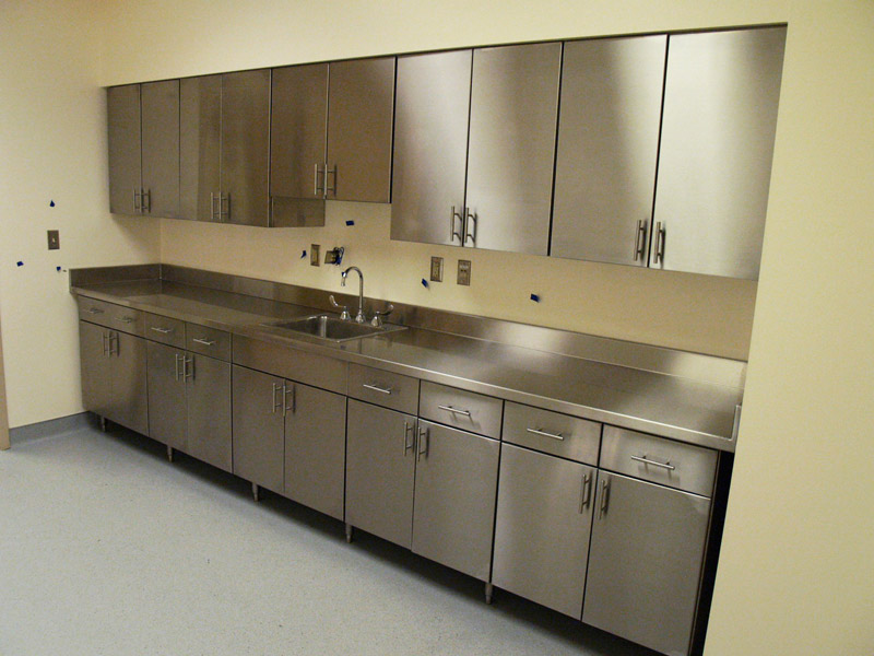 Commercial residential stainless steel cabinets new for Kitchen cabinets stainless steel